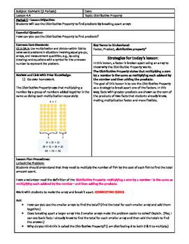GoMath Grade 3 - Chapter 4 - Lesson 4 - 4.4 Lesson Plan