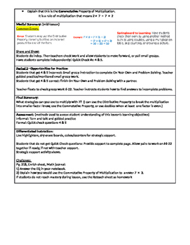 GoMath Grade 3 - Chapter 4 - Lesson 5 - 4.5 Lesson Plan