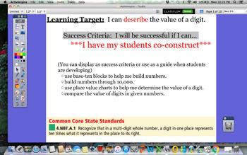 GoMath Grade 4 Chapter 1 Lesson 1 Promethean Lesson