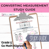GoMath Grade 5 Chapter 10 Study Guide - Converting Measurement