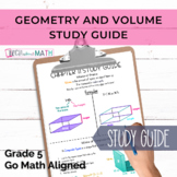 GoMath Grade 5 Chapter 11 Study Guide - Geometry and Volume