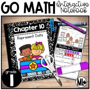 First Grade Math Interactive Notebook, Represent Data - Chapter 10