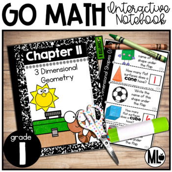 First Grade Math Interactive Notebook, Three-Dimensional Geometry - Chapter 11