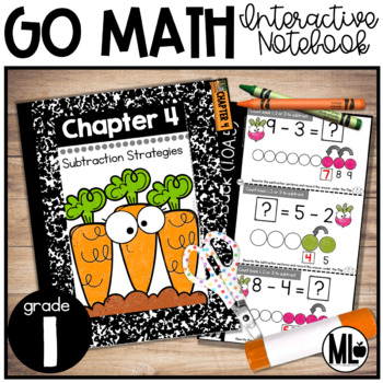 First Grade Math Interactive Notebook, Subtraction Strategies - Chapter 4