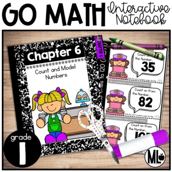 First Grade Math Interactive Notebook,Count and Model Numbers - Chapter 6