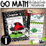 Go Math Interactive Notebook, Subtraction Strategies - Chapter 2-First Grade
