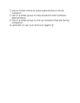 GoMath Lesson 1.2 Graphic organizer