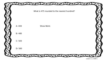 GoMath! Problem of the Day 3rd Grade Chapter 1
