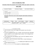 GoMath/Ready Vocabulary Test- Multiplication