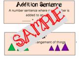 GoMath Unit 1 Vocabulary Cards