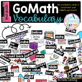 GoMath Vocabulary Cards for First Grade