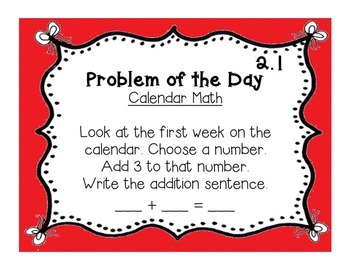 GoMath!(1st grade)FLA Common Core Chapter 2 Journal Prompts & Problem of the day