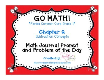 GoMath!(1st grade)FLA Common Core Chapter 2 Journal Prompt