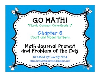 GoMath!(1st grade)FLA Common Core Chapter 6 Journal Prompt