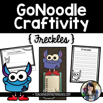 GoNoodle Monster Craft Free (Freckles Craftivity)
