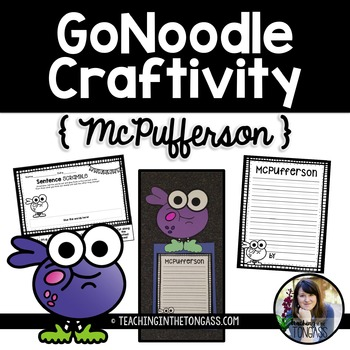 GoNoodle Craftivity (McPufferson) Free
