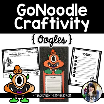 GoNoodle Monster Craft Free (Oogles Craftivity)