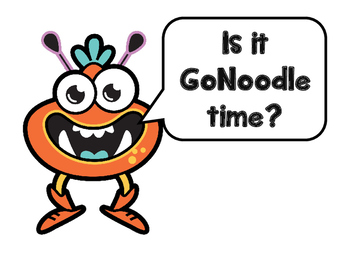 GoNoodle clock signs