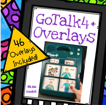 #Autism GoTalk4+ Overlays for Special Ed - AAC