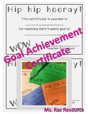 Goal Achievement Certificate