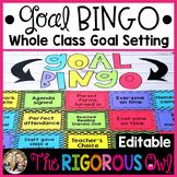 Goal BINGO: Whole Class Goal Setting (Editable)