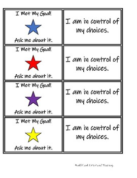 Goal Badges with Growth Mindset Quotes