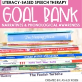 Goal Bank For Literacy-Based Speech Therapy | Google Docs™️