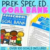 Preschool Special Ed Goal Bank | IEP Goals | Editable and