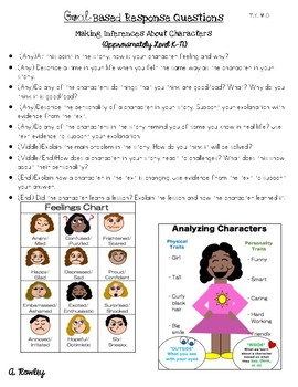 Goal-Based Reading Questions (Fountas & Pinnell / Common Core Aligned)