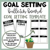 Goal Bulletin Board | Goal Setting Display | Succulent Bul