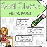 Goal Check Writing Paper