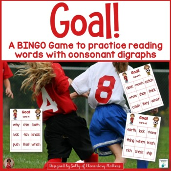 Consonant Digraphs  Soccer Themed BINGO Game