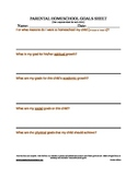 Goal Creation Sheet for Home Schooling