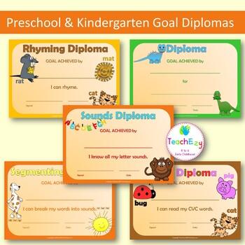 Goal Diplomas for Preschool and Kindergarten
