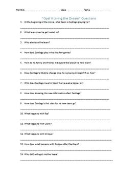 Goal II: Living the Dream Questions
