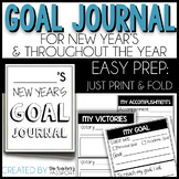 Goal Journals for Goal-Setting (Easy Prep- Just Print and Fold)