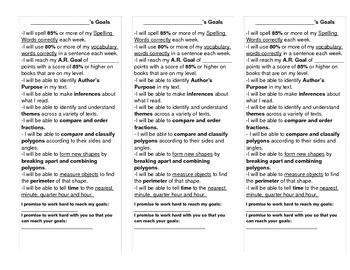 Goal Mat for Student Desks