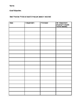 Goal/ Objective Probe Sheet (data)