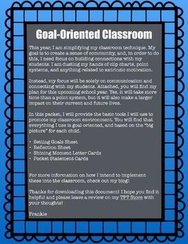 Goal Oriented Classroom Management