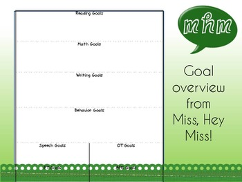 Student Goal Overview