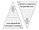 Goal Pennants: Growth Mindset