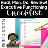 Goal, Plan, Do, Review! Executive Functioning Checklist