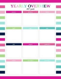 Goal Planner Sample - Year Goals Overview