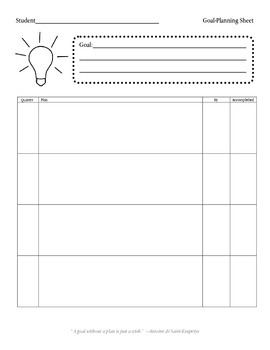 Goal-Planning Outline