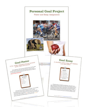 Goal Setting Poster and Essay Project- Health Class Activity & Rubric