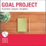 Goal Setting Poster and Essay Project- Health Class Activi