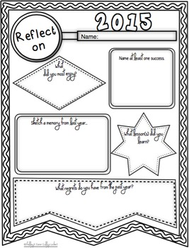 Goal & Reflection Banners for the New Year - Freebie