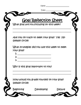 Goal Reflection Sheet