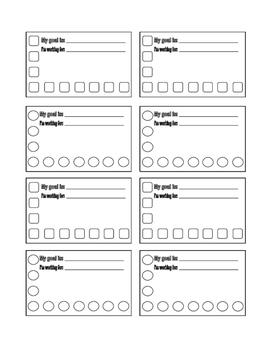 Goal & Reward Cards - Blanks