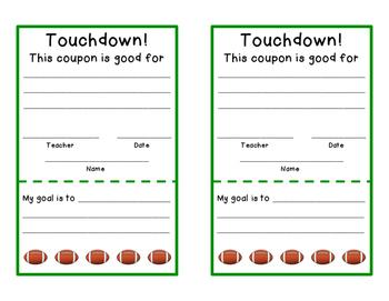 Goal/Reward Punch Card